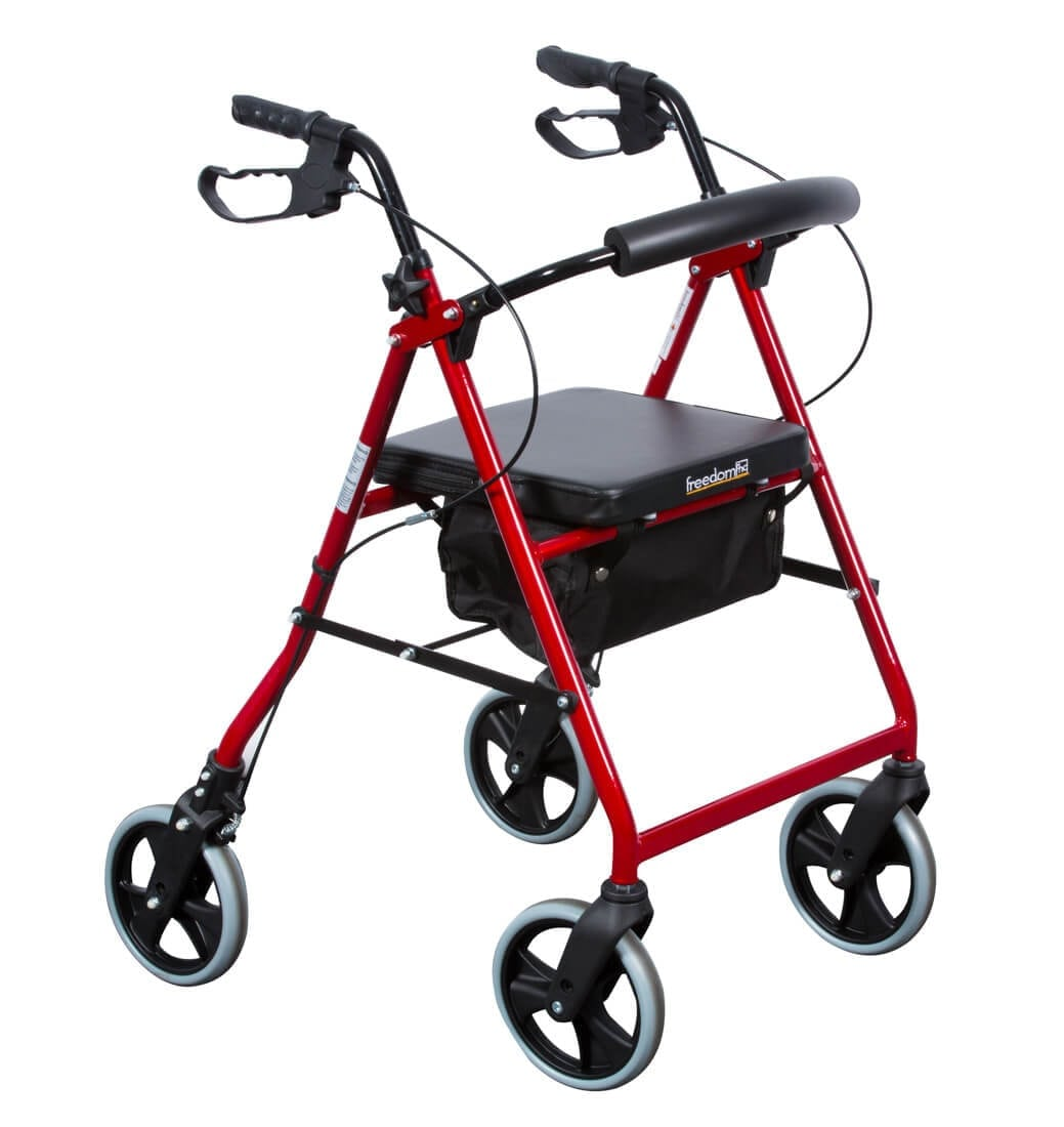 Rollator 8 freedom walker quad balance mobility for Mobility walker